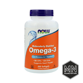 NOW - Omega-3 1000мг, 200 капсул