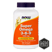 NOW - Super Omega 3-6-9 1200 мг, 180 капсул